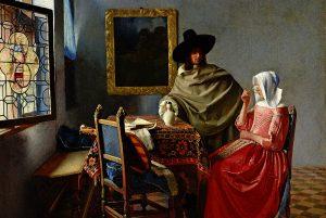 Vermeer, Öl auf Leinwand, 65x77 cm, 1658-1660